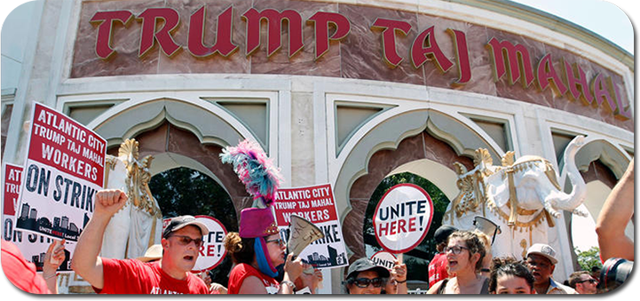 Casino Trump Taj Mahal to close due to strike