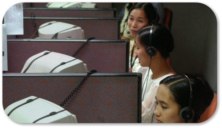 Clark Field air base Philippines call centre