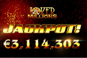 Joker Millions Awarded Lucky Player With €3.1 Million