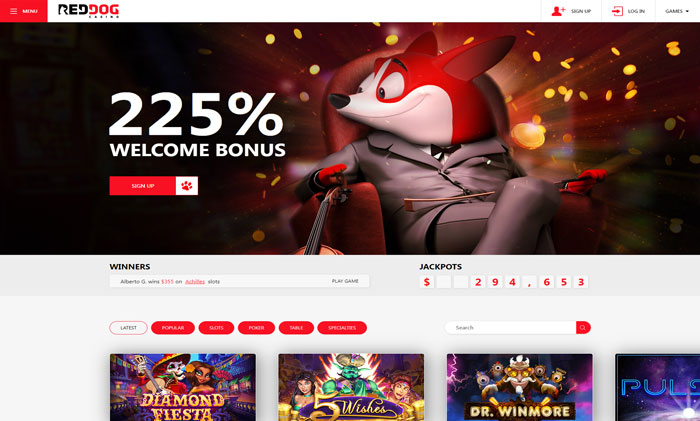Red Dog Casino website
