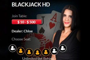 Blackjack HD at Red Dog Casino