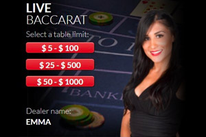 Live Baccarat at Red Dog Casino
