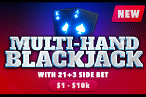 Multi-hand blackjack at Wild Casino