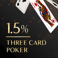 Online Three Card Poker Low Casino House Edge