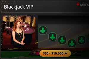 Live Blackjack at BetOnline