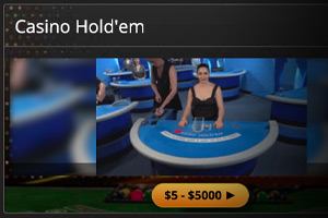 Live Casino Hold'em at BetOnline