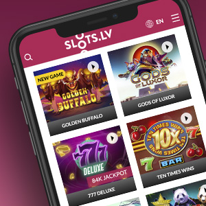 Play at Slots.lv Casino on your mobile device