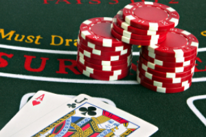 European Blackjack Cards and Chips