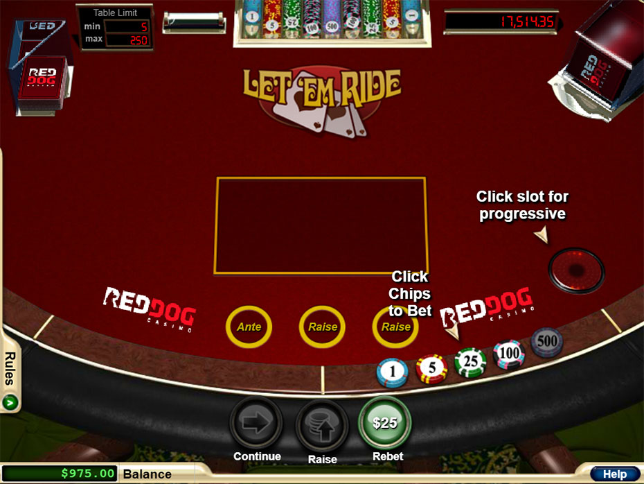 Let It Ride Poker gameplay
