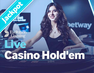Live Casino Hold'em at Betway