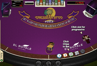 Caribbean Stud Poker Online - Table Layout