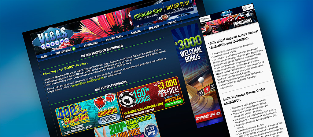 Vegas Casino Bonuses and Promotions