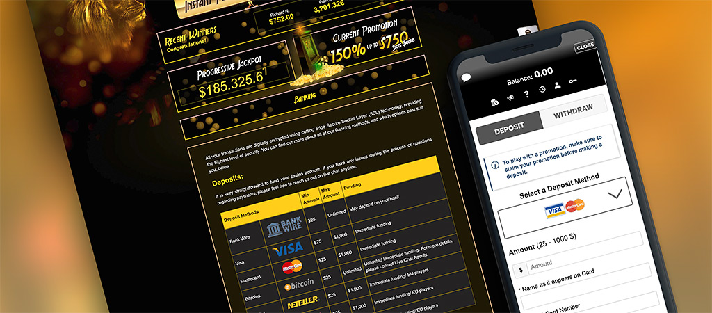 Golden Lion Online Casino Banking Options
