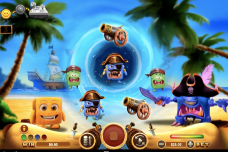 The monsters in Cubee slot game